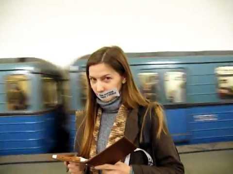 Флешмоб в Московском метро