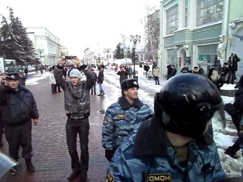 Митинг 10 марта 2012 года Нижний Новгород: Власть жестоко подавила акцию протеста