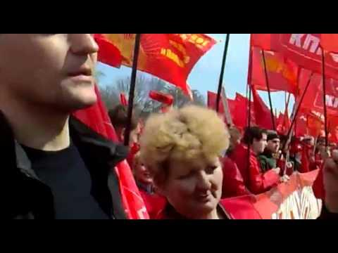 Ульяновск против НАТО: Удальцов и журналистка