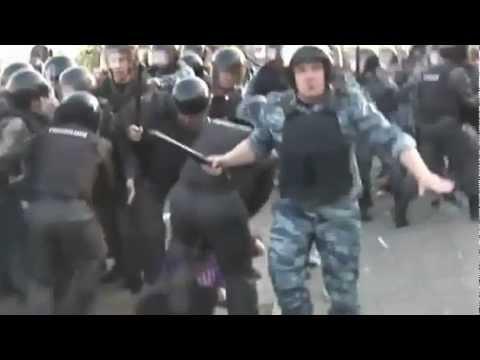 Марш Миллионов: Мусор — Фашист избивает беременную женщину