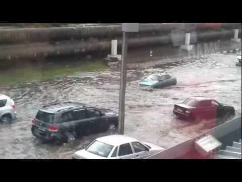 Потоп в Саратове 21 августа 2012 года