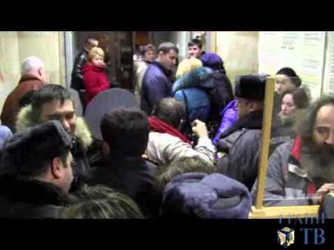 Жильцов общежитий выгнали из мэрии