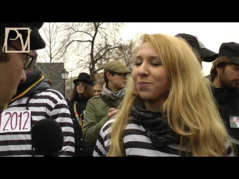 «Казнь политзеков» в центре Москвы 01 декабря 2012 года
