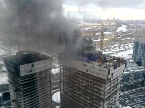 Новый пожар в Москва-сити