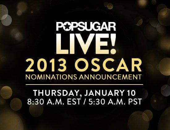 Номинанты Оскара 2013 / Oscars Nominations 2013 Прямой эфир / Трансляция 10 января