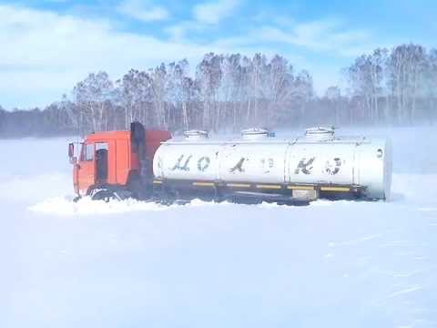 Метель и снегопад в Сибири