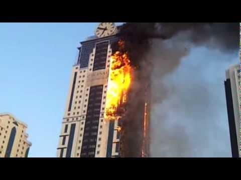 Пожар в Грозный Сити 03 — 04 апреля 2013 года Прямой эфир / Трансляция