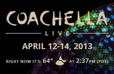Coachella 2013 Прямой эфир / Трансляция 12 — 14 апреля Смотреть онлайн
