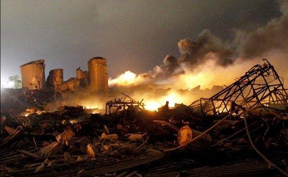Техас: Взрыв на заводе 18 апреля 2013 года Прямой эфир / Трансляция