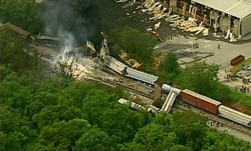 Балтимор: Крушение и взрыв грузового поезда 28 мая 2013 года Прямой эфир / Трансляция