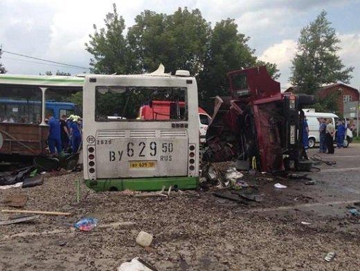 Подольск: Грузовик врезался в автобус — 18 жертв 13 июля 2013 года