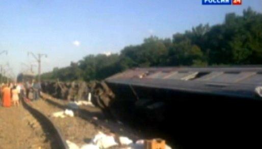 Кубань: Сошел с рельсов поезд Новосибирск — Адлер 7 июля 2013 года