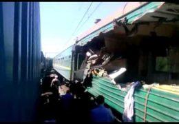В Подмосковье столкнулись пассажирский и товарный поезда 20 мая 2014 года