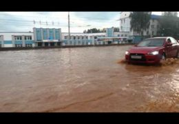 Сильный ливень вновь затопил улицы Ижевска 17 августа 2014 года