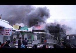 Нижневартовск 23 декабря 2014 года: Пожар на вещевом рынке — Мародеры грабили торговцев
