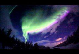 Карелия и Заполярье 06 января 2015 года: Яркое полярное сияние
