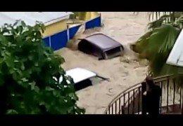 Потоп в Сочи: 25 июня 2015 года Под водой поселки и трассы Хроника