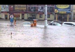 Потоп в Курске после сильнейшего ливня 20 июня 2015 года Онлайн хроника
