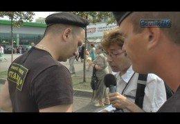 ПРАВООХРЕНЕВШИЙ ЧОП АТАКОВАЛ SOTNIK-TV: Прогнившая страна безмозглых охранителей