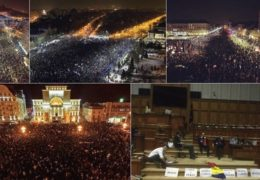 Румыния: Массовый протест против антикоррупционных законов 04 — 05 февраля 2017 года Прямой эфир Трансляция
