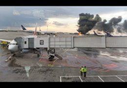 Аэрофлот убил 41 человека: Сухой Суперджет 100 сгорел в Шереметьево 05 — 06 мая 2019 года Прямой эфир / Трансляция