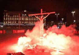 Иисус Христос распятый на Лубянке 05 ноября 2020 года